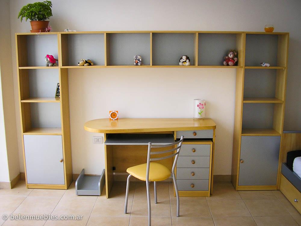 Mueble escritorio biblioteca juvenil 20170719031237 for Muebles juveniles